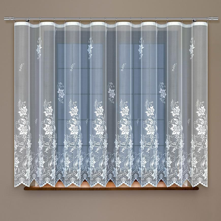 Žakarová záclona 352120 biela/160. Tovar na mieru