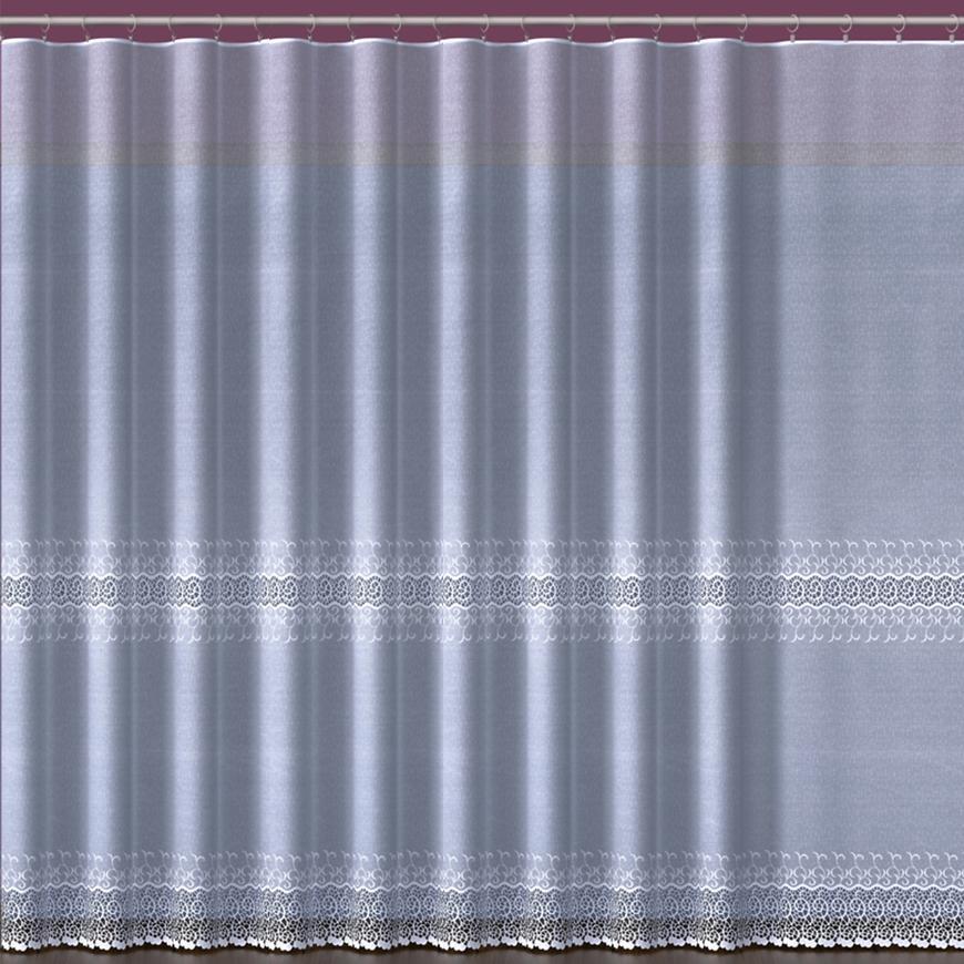 Žakarová záclona 618/361/180 biely. Tovar na mieru