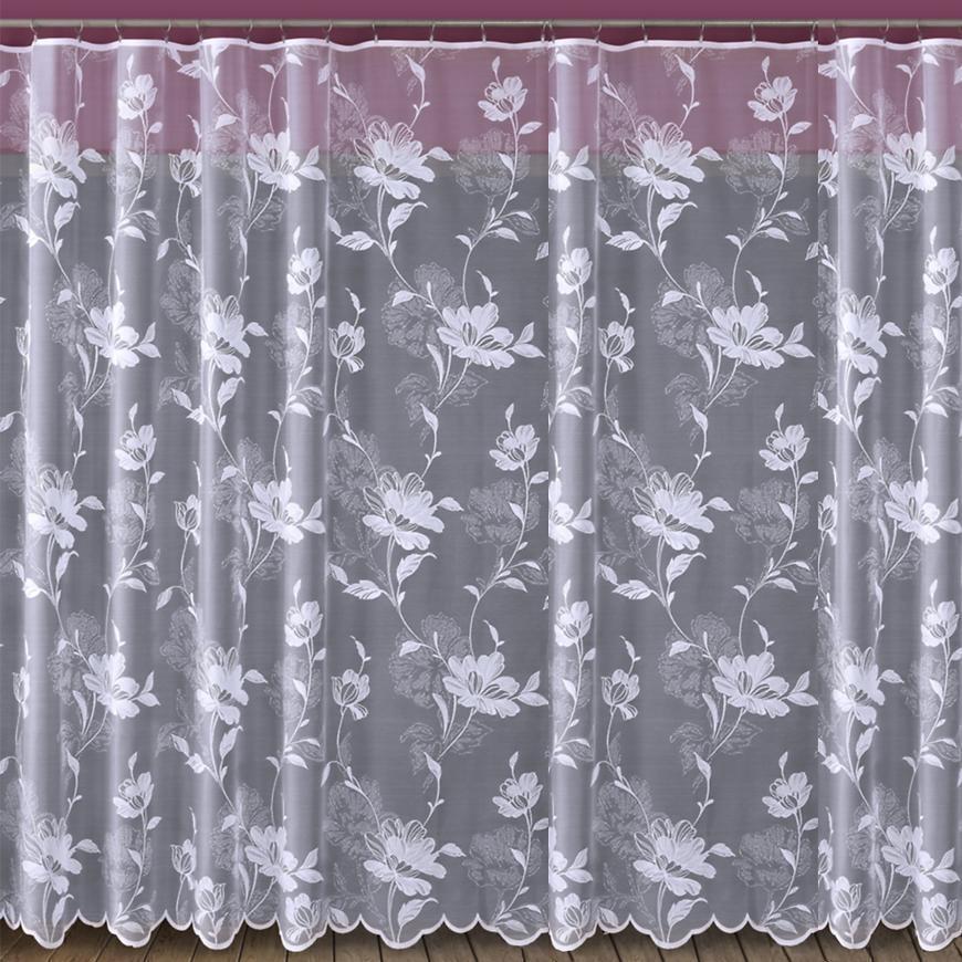 Žakarová záclona 618/D328/180 biely. Tovar na mieru