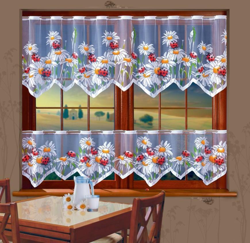 Žakarová záclona 623D568/50 biely. Tovar na mieru