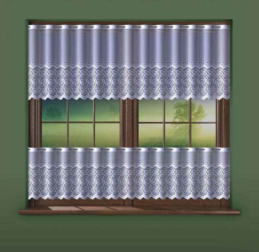 Žakarová záclona 624D705/70 biely. Tovar na mieru