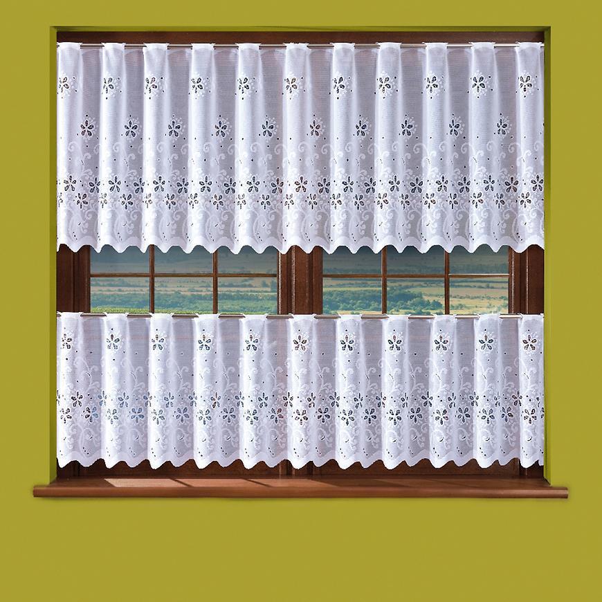 Žakarová záclona 625D365/70 biely. Tovar na mieru