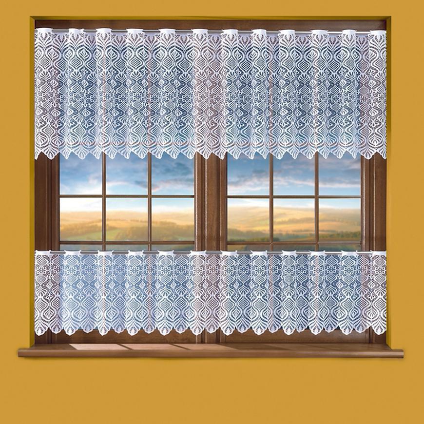 Žakarová záclona 632D1/90 biely. Tovar na mieru