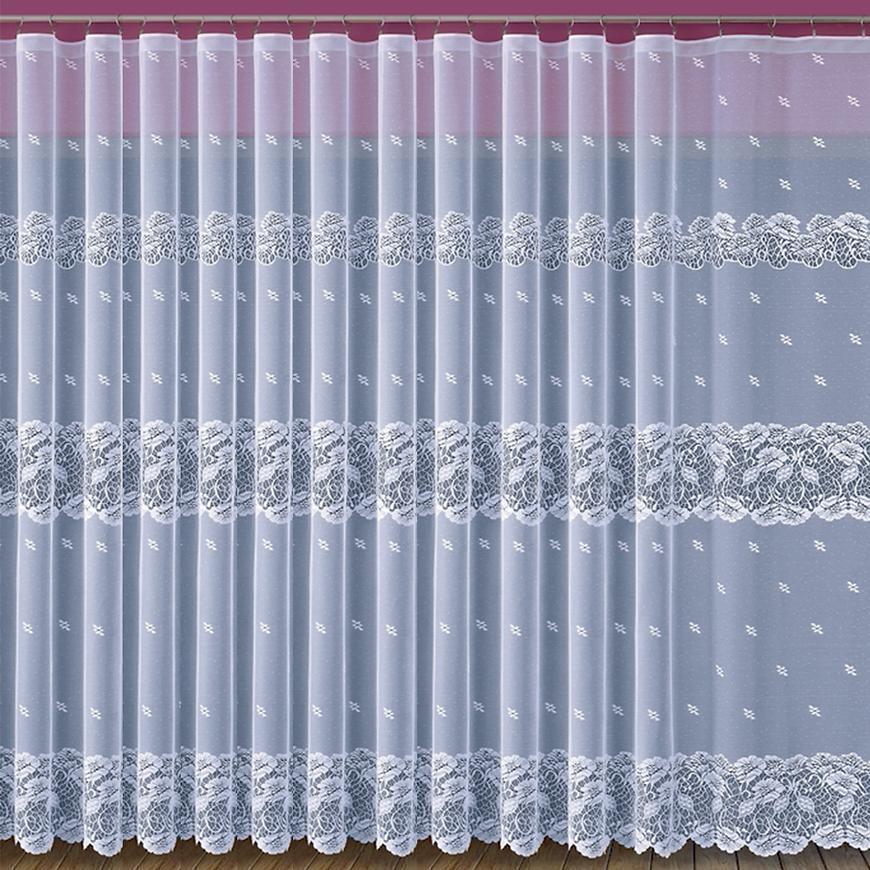 Žakarová záclona 638/D34/170 biely. Tovar na mieru
