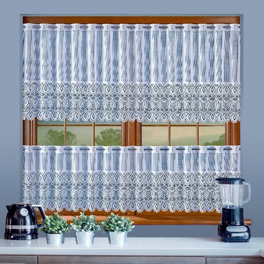 Žakarová záclona 639D18/45 biely. Tovar na mieru