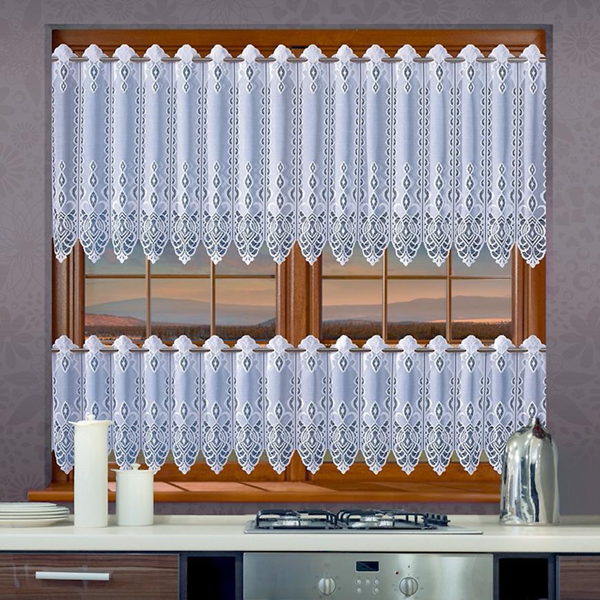 Žakarová záclona 639D19/45 biely. Tovar na mieru