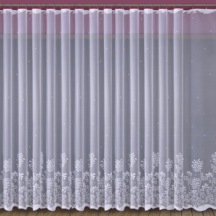 Žakarová záclona 652/D318/180 biely. Tovar na mieru
