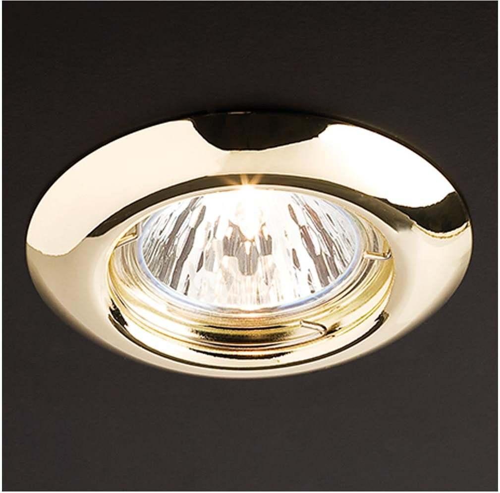 Zápustné - podhľadové svietidlo REDO ELC 307 ZLATÁ GU5.3 70149