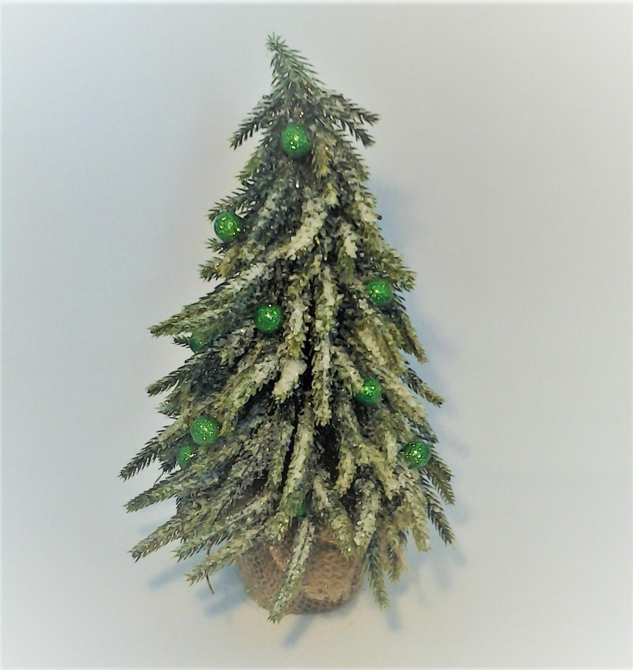 zasnežený stromček 17 x 26 cm
