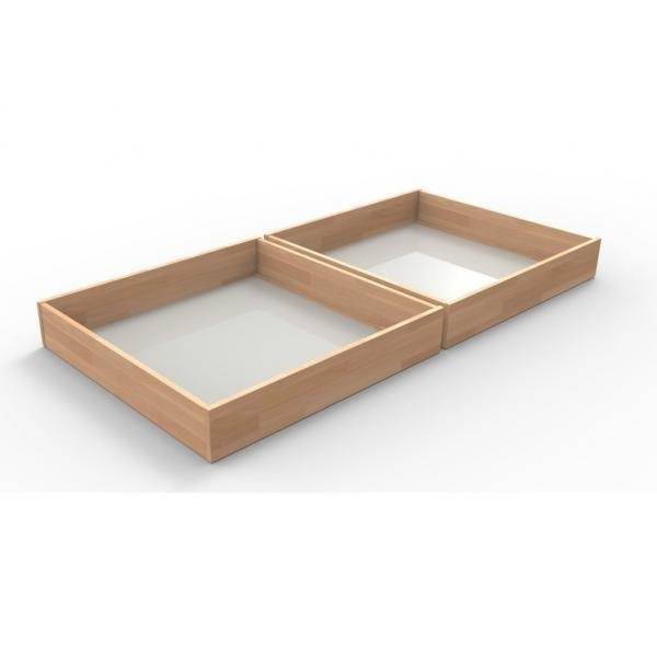 Zásuvky pod posteľ 1/2 Veľkosť: 220 x 120 cm, Materiál: BUK morenie čerešňa