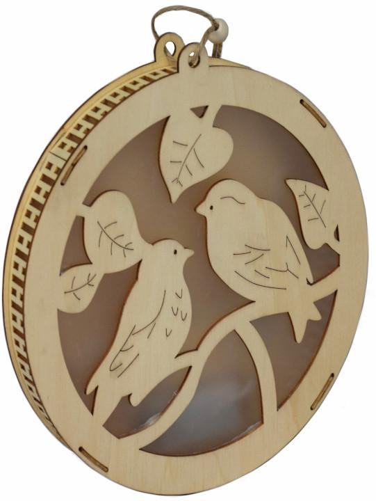 Závesná svetelná dekorácia Vtáčiky