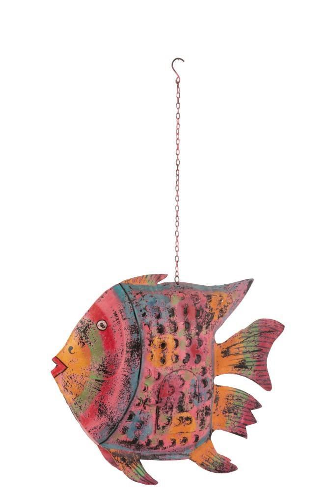 Závesný svietnik veliká ryba Fish Sphere - 77 * 14 * 64 cm