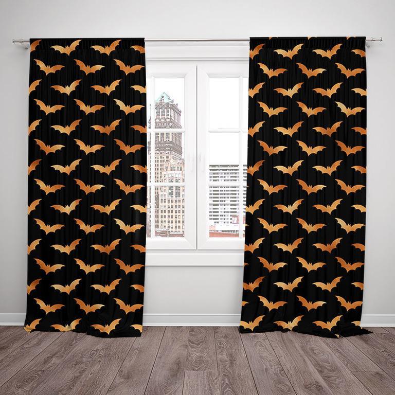 Závesy Halloween bats (Rozmer: 140x250, Materiál závěs: Interlock)