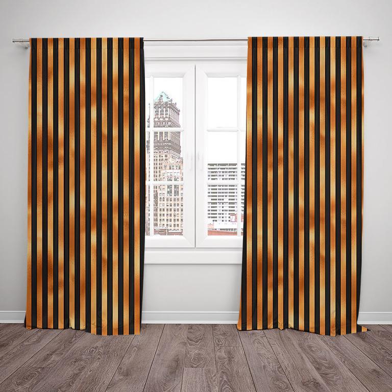 Závesy Halloween stripes (Rozmer: 140x250, Materiál závěs: Blackout)
