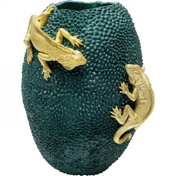 Zelená polyresinová váza Chameleon Jack Fruit 39cm