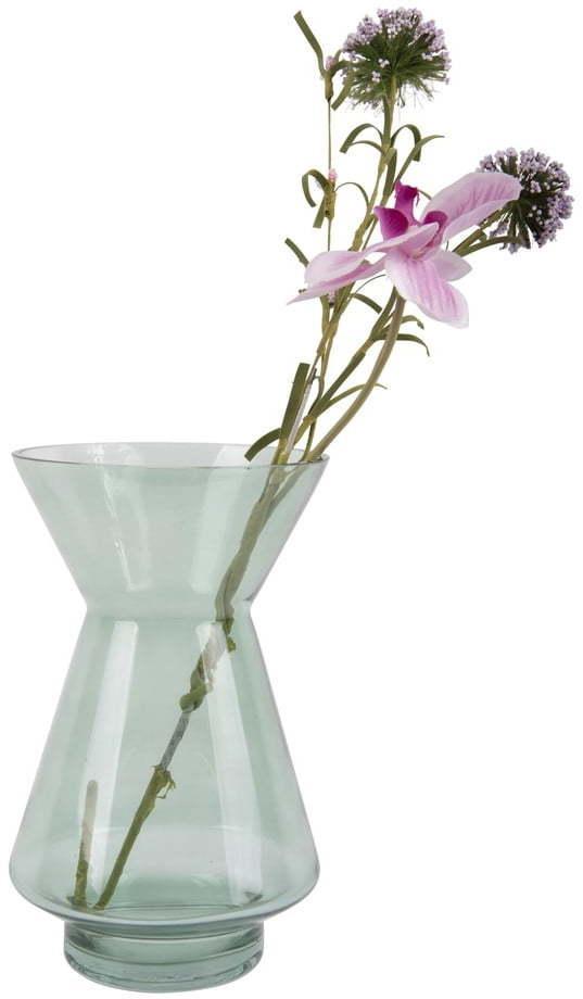 Zelená sklenená váza PT LIVING Glow, výška 22 cm