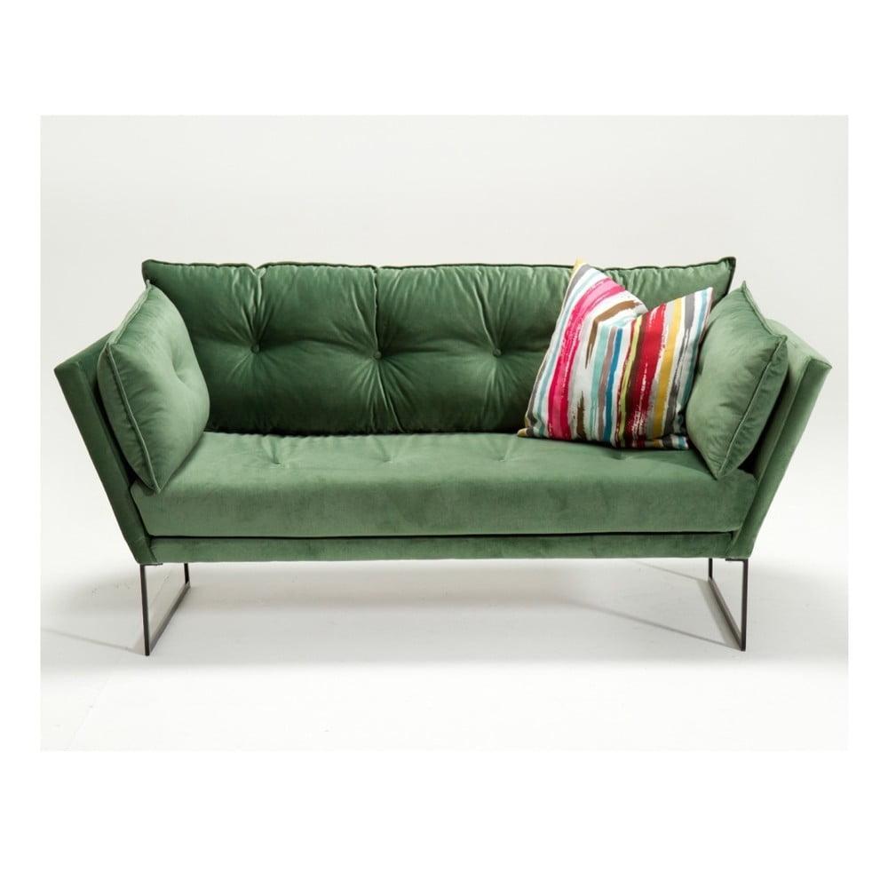 Zelená trojmiestna pohovka Relax