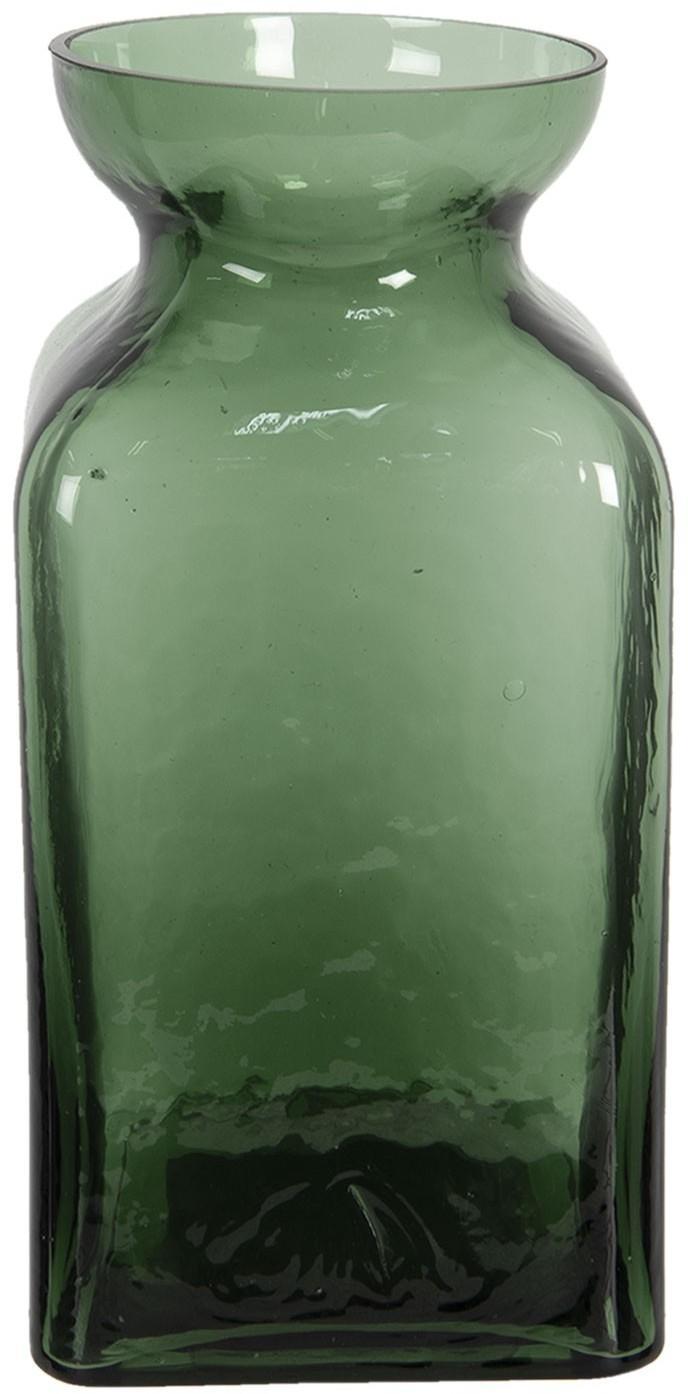Zelenkavá sklenená váza Erica - Ø 10 * 19 cm