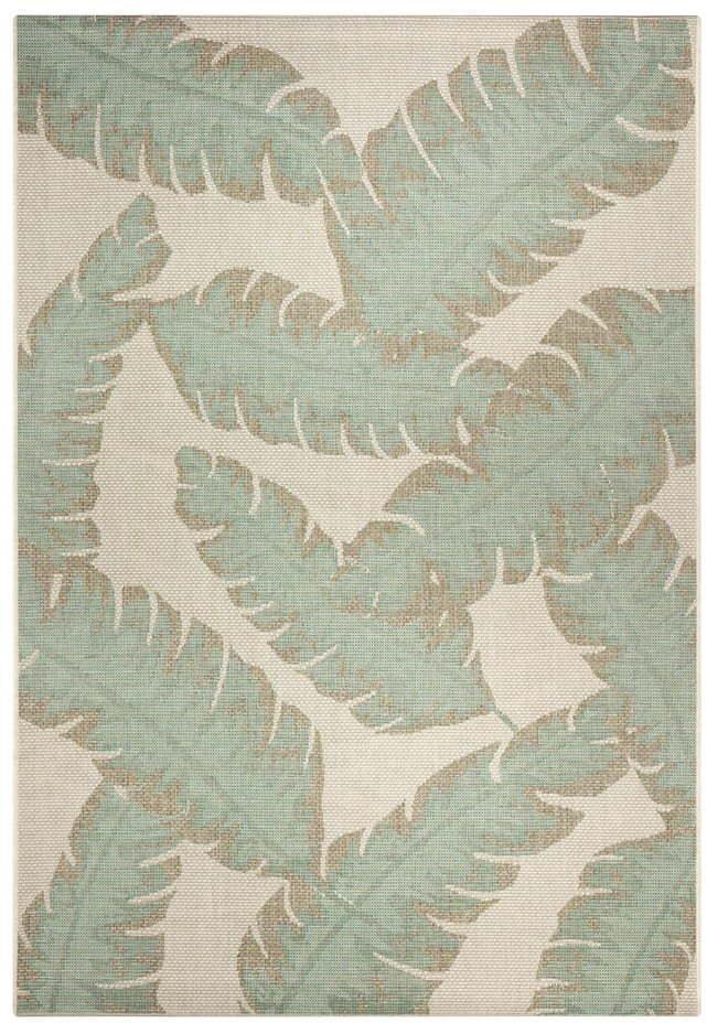 Zeleno-béžový vonkajší koberec Ragami Leaf, 180 x 280 cm