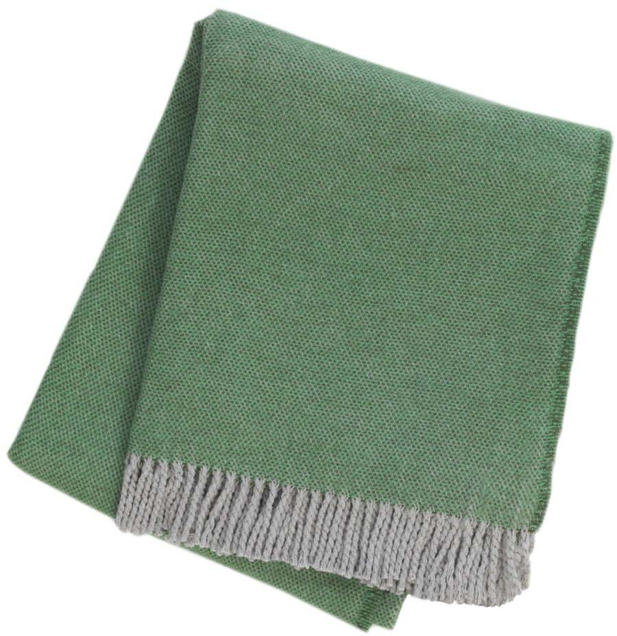 Zelený pléd s podielom bavlny Euromant Jade, 140 x 180 cm