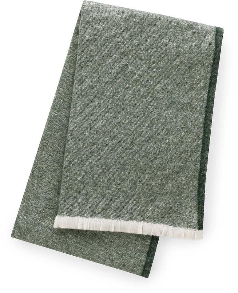 Zelený pléd s podielom bavlny Euromant Linen, 140 x 180 cm