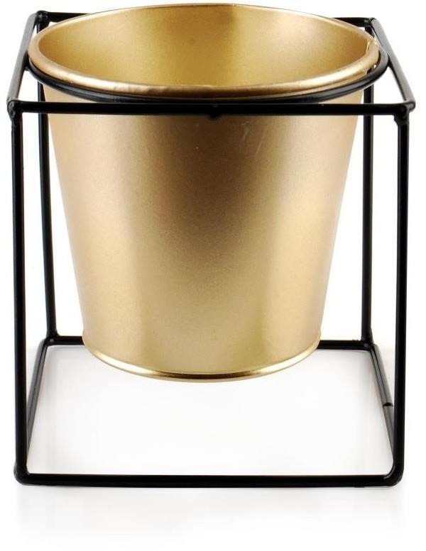 Zlatý květináč Swen 11 cm na stojanu