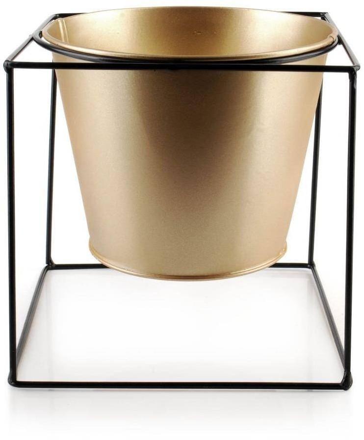 Zlatý květináč Swen 16 cm na stojanu