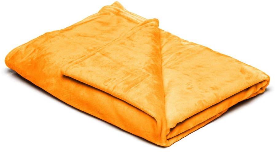 Žltá mikroplyšová deka My House, 150×200 cm
