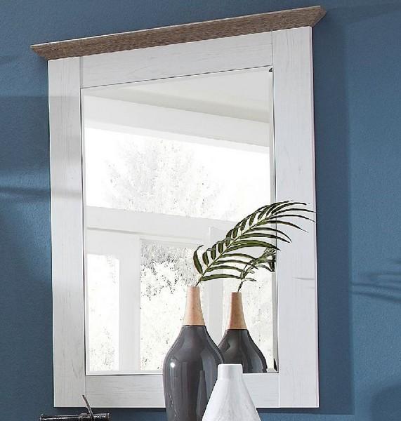 Zrkadlo na stenu Country, bielená pínia