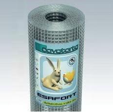 Zvárané pletivo ESAFORT pozinkované Veľkosť oka: 12,7 x 12,7 mm, Sila drôtu: 0,80 mm